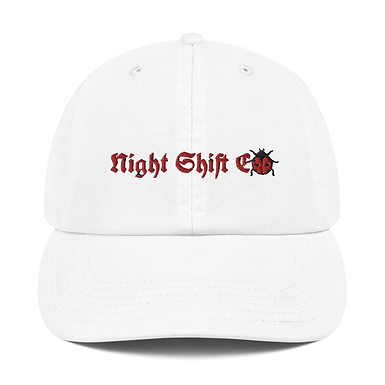 Champion x Night Shift CO Buggin Dad Hat White