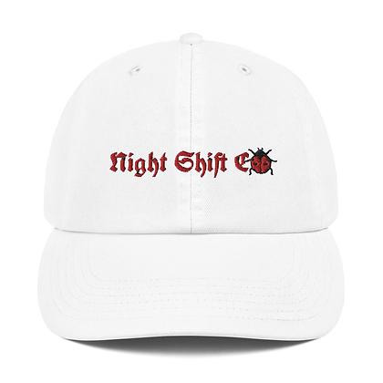 Champion x Night Shift CO Buggin Dad Hat White