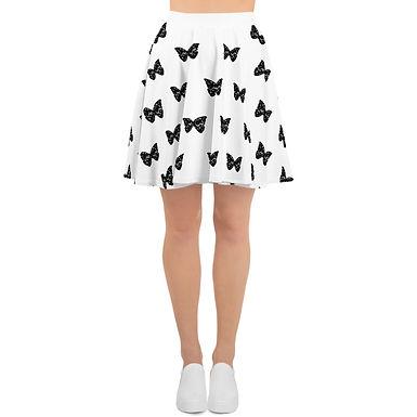 Premium Logo Butterfly Skater Skirt (Arabic Typography Details)
