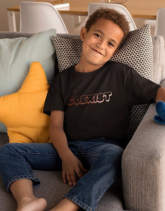 Youth COEXIST Bubbly T-Shirt