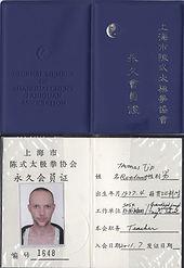 Lidkaart Shanghai Chen stijl Taiji Assoc
