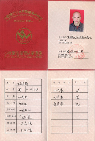 Diploma Songyang academy 2004.jpg