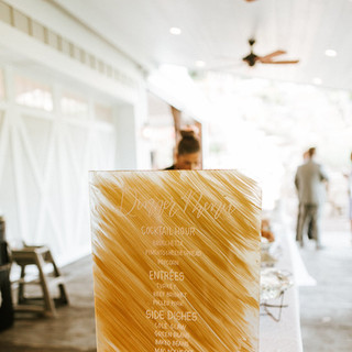 Sunflower Hill Wedding - Dinner Menu