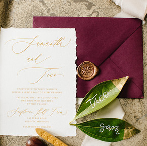 Photo credit: Veronica Young Photography Invitation Suite: La Rue Louise