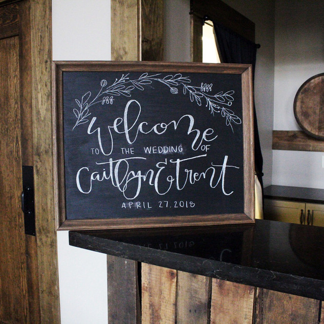 Silver Oaks Wedding - Welcome Sign