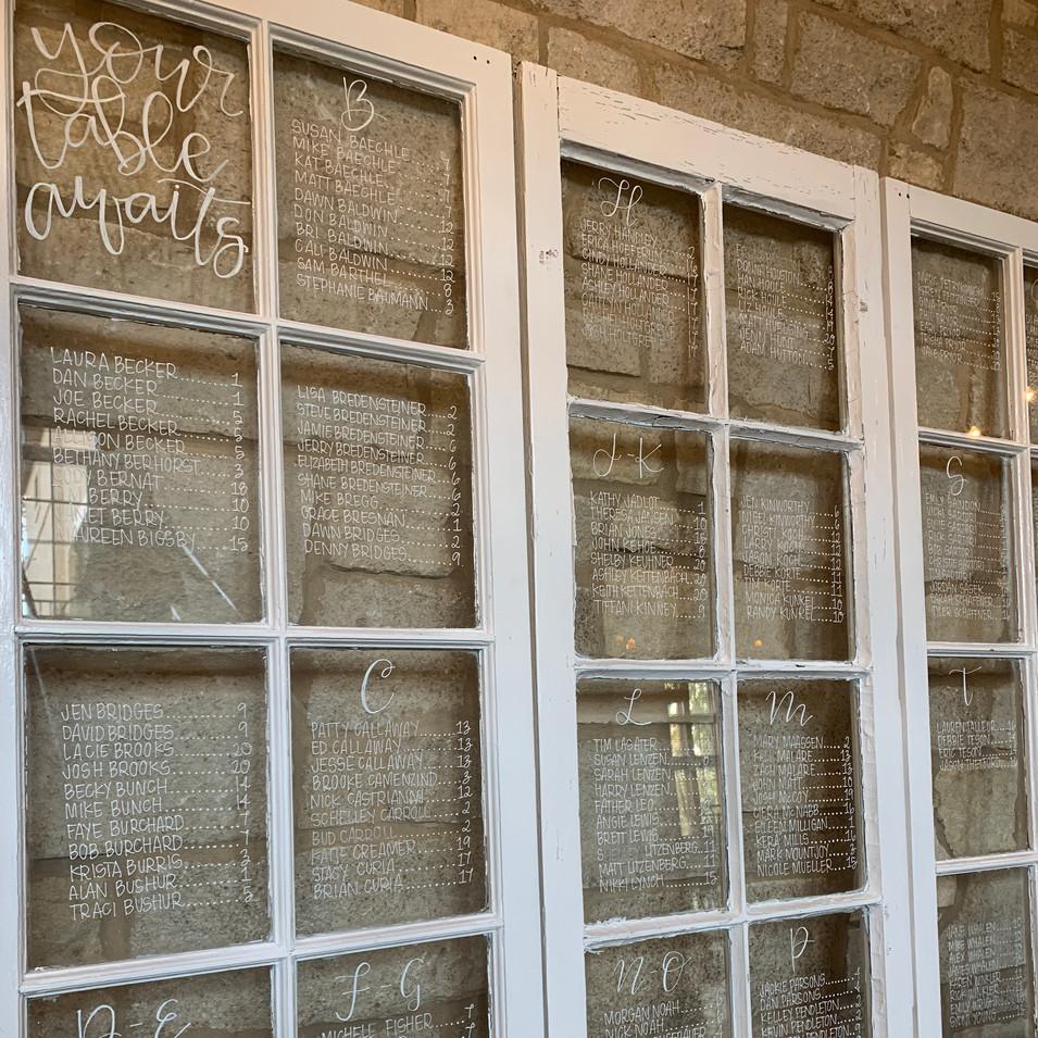 Window Seating Charts