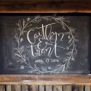 Silver Oaks Wedding - Bar Chalkboard