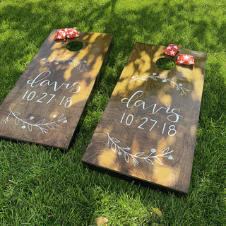 Silver Oaks Wedding - Custom Cornhole Boards