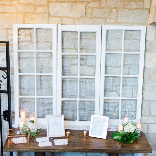 Silver Oaks Wedding - Seating Chart