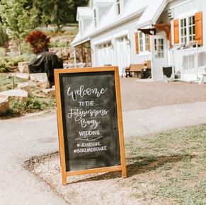 Sunflower Hill Wedding - Chalkboard