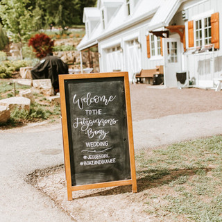 Sunflower Hill Wedding - Chalkboard