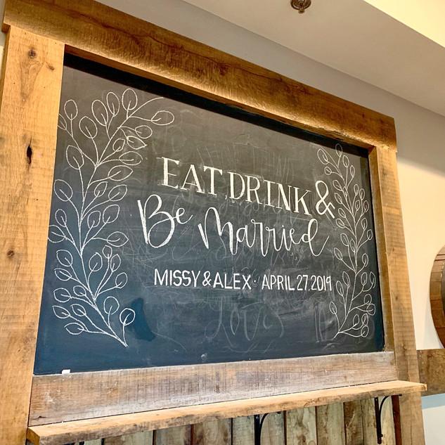 Silver Oaks Wedding - Bar Chalkboard
