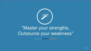 Outsource Where You're Weak to Become Strong