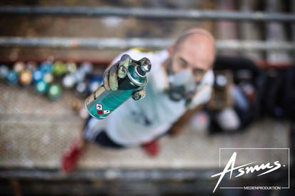 Graffiti mit Christoph
