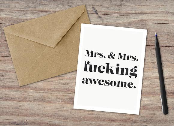 Mrs. & Mrs. / Greeting Card
