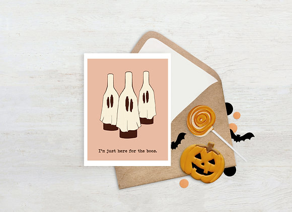 Here for the boos. / Greeting Card