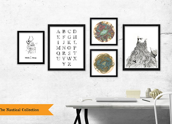 The Nautical Collection - Set of 5 Prints