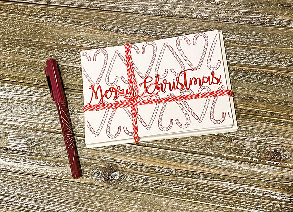Set of 10 / Merry Christmas Holiday Cards