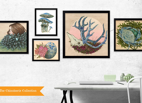 The Chinoiserie Collection - Set of 5 Prints
