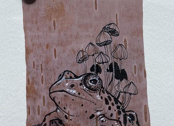 Birchbark Illustration - Frog