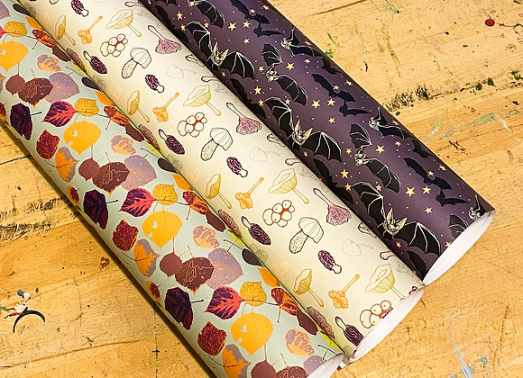 October Ground / 3 Wrapping Paper Sheets