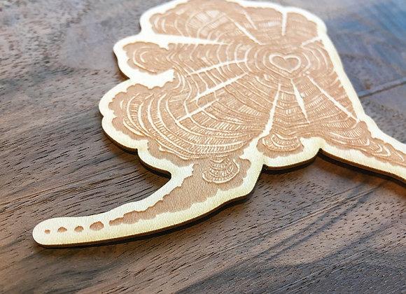 Wood AK Grown Sticker