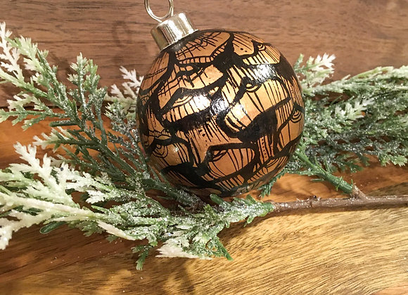 Ceramic Ornament // Pine Cone