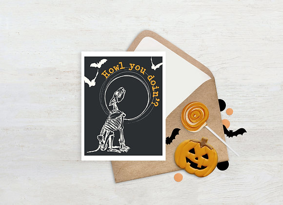 Howl you doin'? / Greeting Card
