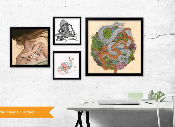 The Fiber Collection - Set of 4 Prints