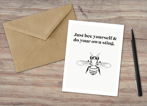 Just bee yourself / Greeting Card