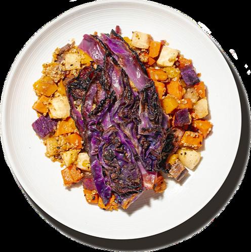 Charred Red Cabbage Quinoa Salad