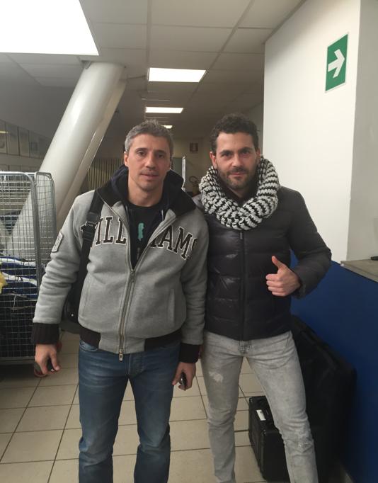 With coach Hernan Crespo