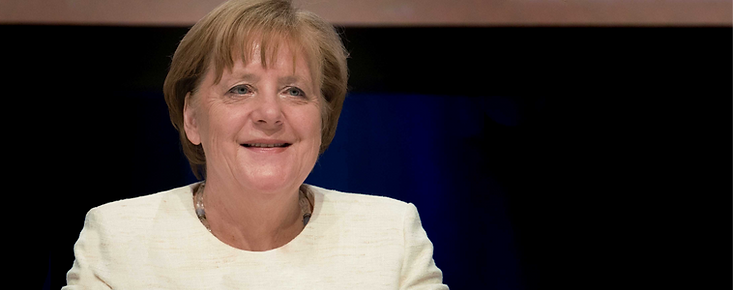Konferenzfoto Angela Merkel