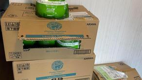 サラヤ株式会社様より洗剤の寄付をいただきました!