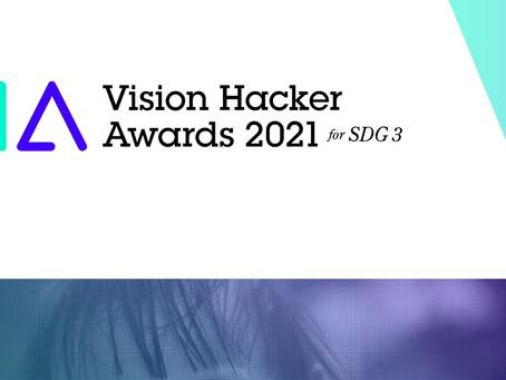 Vision Hacker Award (VHA) 2021 for SDG 3でシード賞獲得!