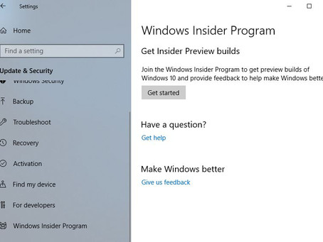 Being a Windows Insider - The Actual steps to Becoming an Insider