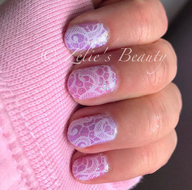 Lace Effect Nails