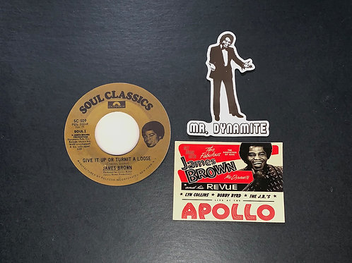James Brown Stickers
