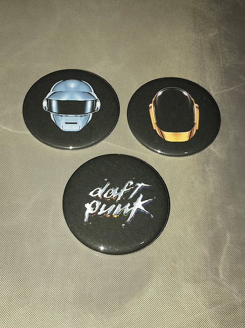 """Daft Punk 3 pack of 2.25"""" Big Buttons"""