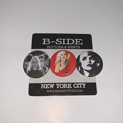 """Debbie Harry (Blondie) Button Pack - Size: 1.25"""""""