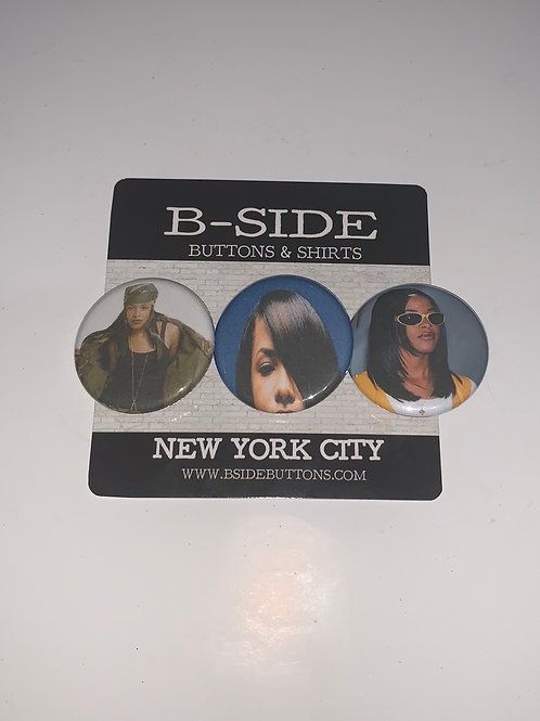 """Aaliyah Button Pack - Size: 1.25"""""""