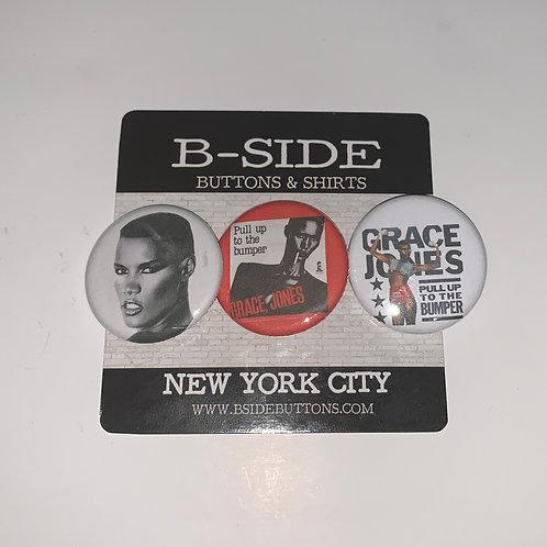 """Grace Jones Button Pack - Size: 1.25"""" (v.2)"""