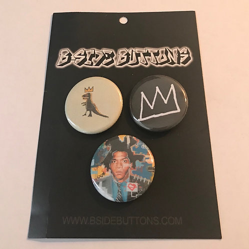 Basquiat Button Pack - Size: 1.25""