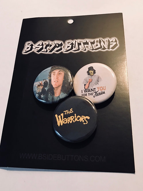 """Warriors Button Pack - Size: 1.25"""""""