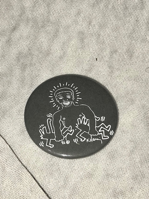 """Keith Haring and Larry Levan 2.25"""" Magnet"""