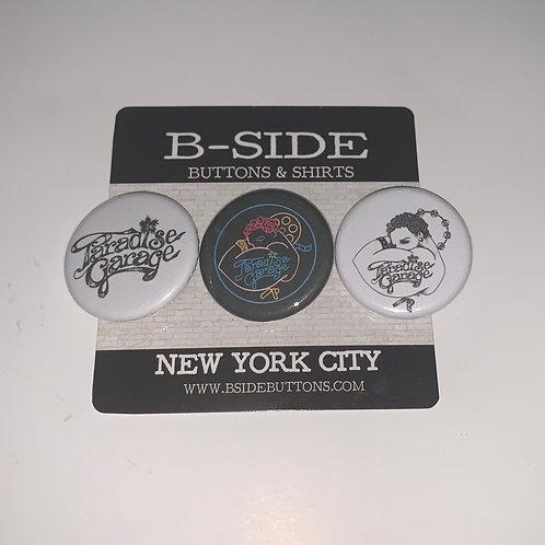 "Paradise Garage Button Pack - Size: 1.25"""