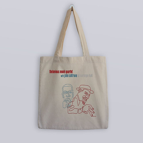 Thelonious Monk and John Coltrane Tote Bag
