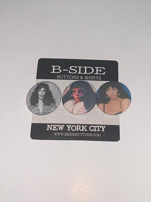 "Donna Summer Button Pack - Size: 1.25"""
