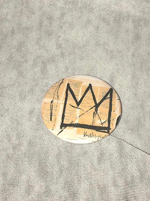 """Basquiat Crown design 2.25"""" Big Button"""