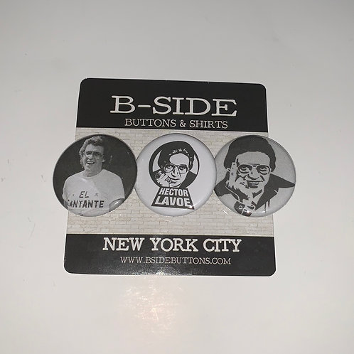"""Hector Lavoe button Pack - Size: 1.25"""""""